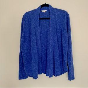 Eileen Fisher Organic Linen Cotton Cardigan Blue
